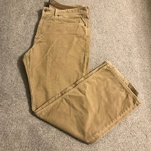Banana Republic Straight Fit Corduroy Khaki 36x30
